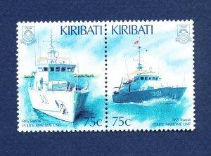 KIRIBATI - Scott 673-674a - FVF MNH - Police Maritime Unit - boats  - 1995