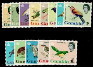 GAMBIA SG193-205, COMPLETE SET, NH MINT. Cat £85.