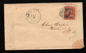 $North Oxford MA. Sc#94 rare captured imprint-Clara Barton cover! red cross
