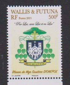 2021 Wallis & Futuna Bishop Msr. Susitino Sionepoe COA (Scott NA) MNH