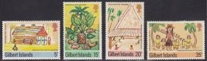 Gilbert  Islands 285-288 Childrens Drawings 1976