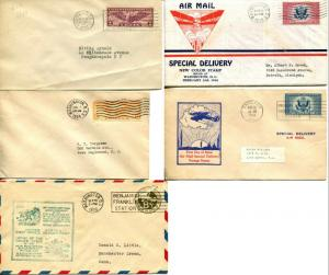 USA SC# C12 C19 CE1 CE2 UC7 AirMail Special Delivery FDC First Day Cover Cachet