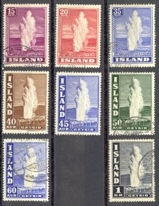 Iceland Sc# 203-208B Used 1938-1947 Geyser