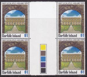 Norfolk Island 1979  Legislative Assembly Stop Light Gutter Pairs VF/NH
