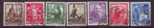 J20339 jlstamps 1938 italy part of set used #400-6 designs people