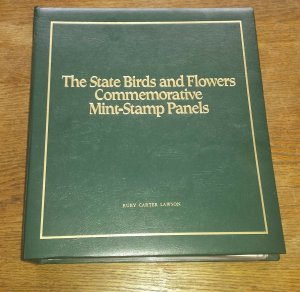 1982 State Birds & Flowers Commemorative Mint-Stamp Panels