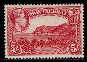 MONTSERRAT GVI SG110, 5s rose-carmine, M MINT. Cat £50. PERF 13