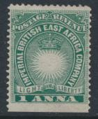 British East Africa Company  SG 5  SC#15  Mint Hinged - perf 14 imperf -  see...