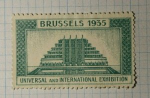 Universal & Intl Expo Brussels Belgium 1935 WW Exposition Poster Stamp Ads
