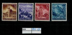 Deutschland Reich TR02 DR Mi 806-09 1939 Reich Postfrisch ** MNH