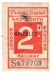 (I.B) London & North Western Railway : Parcel Stamp 2d (Hinckley)