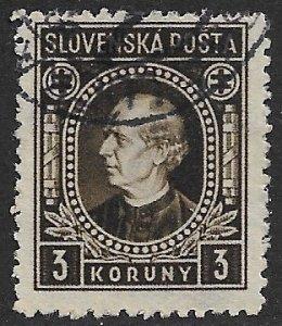 SLOVAKIA 1940-42 3k Andrej Hlinka Issue Sc 57 VFU