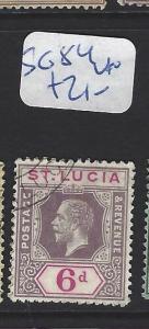 ST LUCIA   (PP2806B)  KGV 6 D  SG 84   VFU