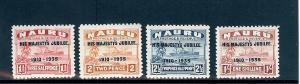 Nauru, 31-34, Silver Jubilee Overprinted Singles,**MNH**