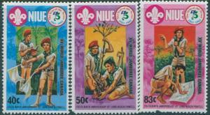 Niue 1983 SG483-485 Scout Jamboree set MLH