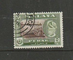 Malaya Perak 1957/61 $5 P13 x 12.5 Used SG 161a
