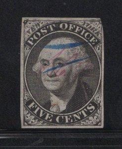 US Stamp Scott #9x1b Used SCV $675