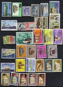 Ships on stamps - mint/used selection
