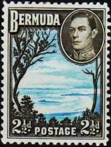 Bermuda. 1938  2 1/2d  S.G.113b Mounted Mint