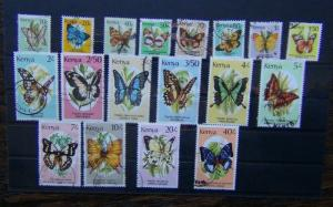 Kenya 1988 Butterflies set complete to 40s Used
