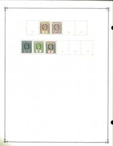 Leeward Islands 1890-1923 Mint & Used (2) Hinged on a Scott Int. Blank Page