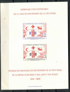 Chile SC# C291 Red Cross Anniv SOUVENIR CARD mngai SCV$5.00