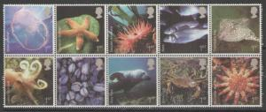 GB SG2699/708 2007 SEA LIFE MNH
