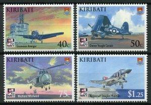 Kiribati 2009 MNH Naval Aviation 100th Anniv 4v Set Helicopters Ships Stamps