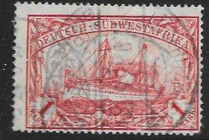 GERMAN SOUTH WEST AFRICA SG29 1912 1m CARMINE p26x17 USED