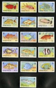 ANGUILLA 792-807 MNH SCV $39.00 BIN $20.00 FISH