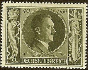 Stamp Germany Mi 849 Sc B236 1943 WW2 Fascism Adolf Birthday MNG