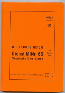 Germany, INFLA, Official 10 Pf. orange, (Michel D 65) 2001 ed.hardcover, 200 p.