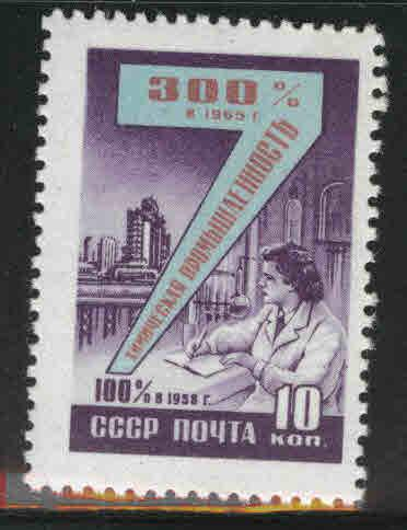 Russia Scott 2244 MNH** Seven Year Plan stamp from 1959-60 set