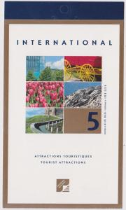 Canada - 2001 $1.05 Tourist Attractions Booklet #BK244b