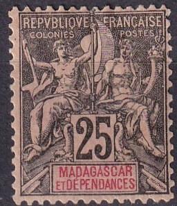 Madagascar #38  F-VF Unused CV $11.00 (A18038)
