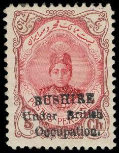 Bushire Scott N4 Gibbons 4 Mint Stamp