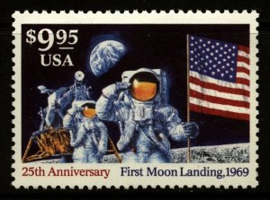 US Scott 2842 $9.95 Moon Landing Anniversary single  Mint NH