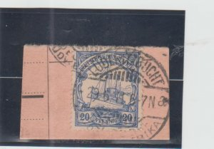 German South West Africa  Scott#  29  Used on Piece  (1911 Hohenzollern)