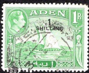 Aden, Scott 43, 1951, 1 shilling overprint