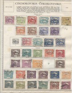 STAMP STATION PERTH Czechoslovakia # Early 4 Pages on Paper 113 Stamps mostly FU