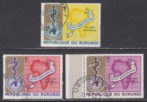 Burundi SC #269-271 Used