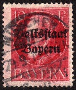 1919, Germany Bavaria 10pfg, Used, Sc 139