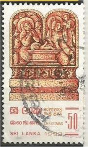 SRI LANKA, 1983, used 50c,  Christmas Scott 695