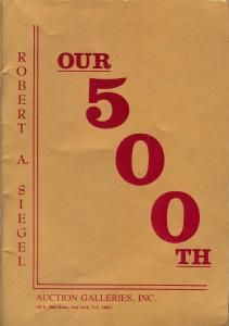 Our 500th: United States Stamps, Robert A. Siegel Auction...