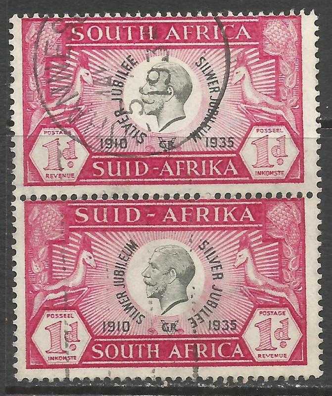 SOUTH AFRICA 69 VFU PAIR Z7474-3