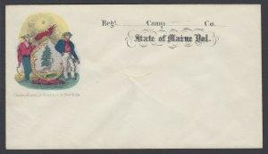 Civil War Patriotic MAGNUS cover - State of Maine Vol