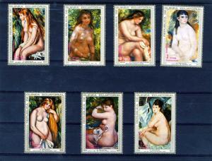 Equatorial Guinea MNH Set Renoir Nude Paintings