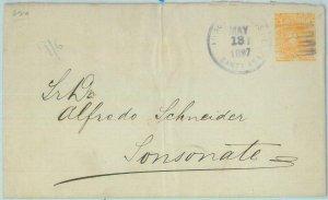 89614  - SALVADOR - POSTAL HISTORY - POSTAL  STATIONERY COVER to SANTA  ANA 1897