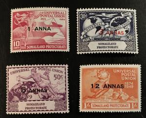 Somaliland Protectorate Scott 112-115 UPU Issue-Mint