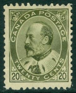 EDW1949SELL : CANADA 1904 Scott #94 Very Fine, Mint NG. Very Fresh. Catalog $675